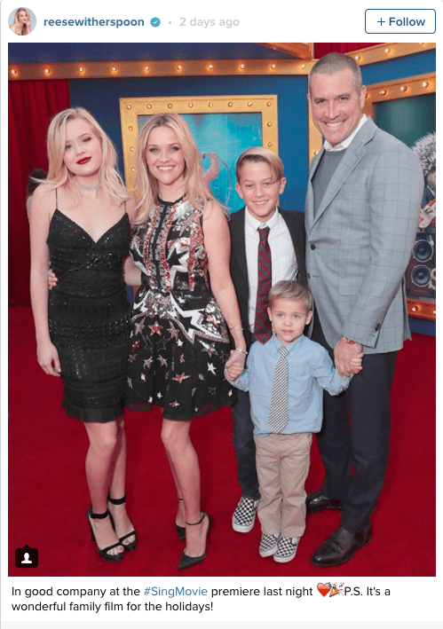 reese witherspoon family リース・ウィザースプーンファミリー