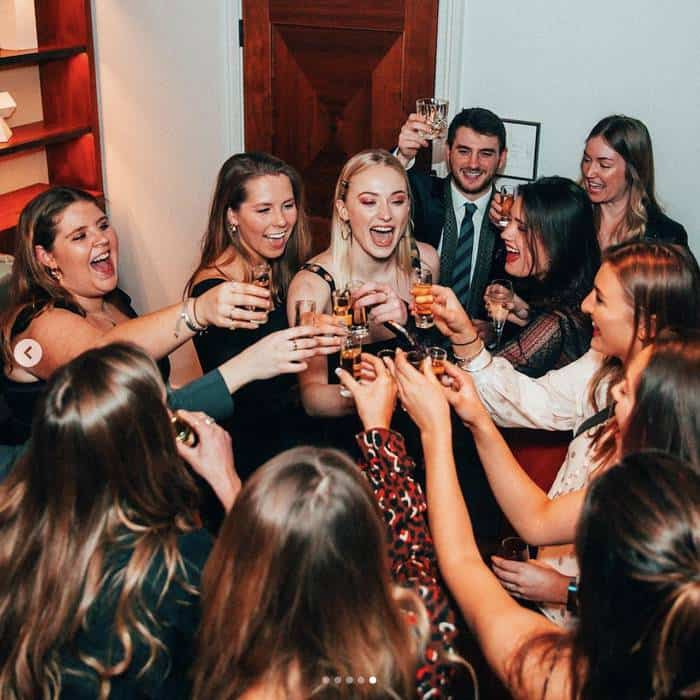 Sophie Turner toast at the birthday party