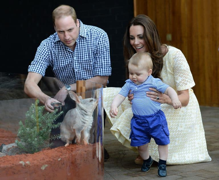 ウィリアム王子 Prince William, ジョージ王子 Prince George, キャサリン妃 Catherine-Duchess of Cambridge